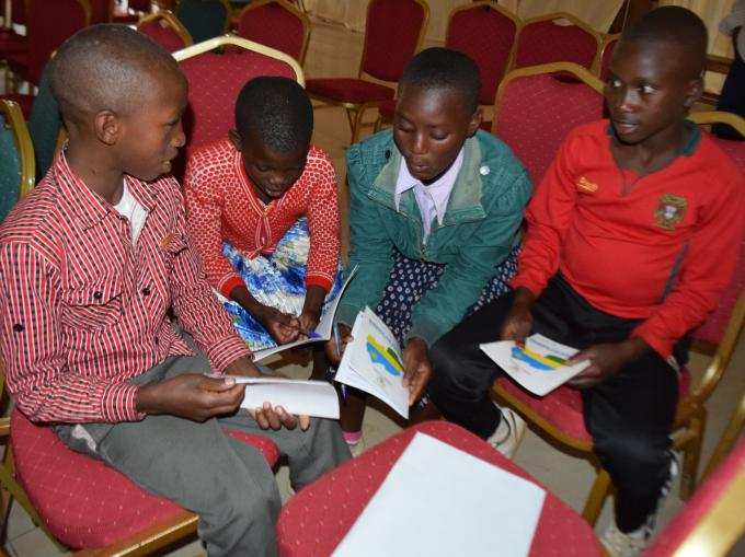 Children discussing on the theme of the upcoming 11th National Children's Summit