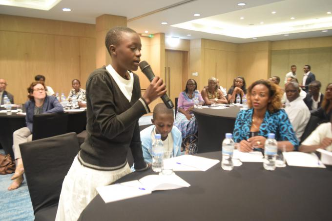 Clementine,13, raising her views on public budgeting for children