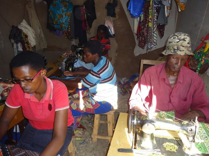 After attending the business skill training, Jovithe decided to start a tailoring training center.