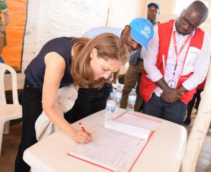 Jordanian Princess commits to support children in Mahama refugee camp.