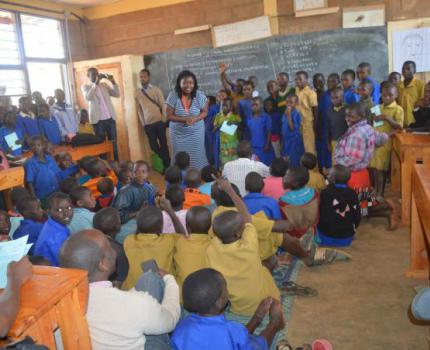 Authors, illustrators and publishers meet children in Gicumbi and Burera Districts in reading and sharing session