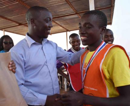 Children and youth in Mahama Refugee Camp ran against drug abuse on 27th and 28th July